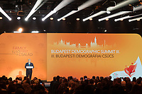 Viktor Orban Prime Minister of Hungar delivers his speech at the Budapest Demographic Summit in Budapest, Hungary on Sept. 5, 2019. ATTILA VOLGYI