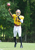Washington Redskins quarterback Robert Griffin III (10) participates in his team's practice prior to their first regular season game at Redskins Park in Ashburn, Virginia on Wednesday, September 3, 2014.<br /> Credit: Ron Sachs / CNP