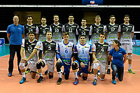 GRONINGEN - Volleybal, Lycurgus - Amriswil, CEV Cup, Martiniplaza , seizoen 2018-2019, 04-12-2018, teamfoto Amriswil