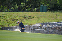 Lanto Griffin (USA) hits from the trap on 14 during Round 1 of the Valero Texas Open, AT&amp;T Oaks Course, TPC San Antonio, San Antonio, Texas, USA. 4/19/2018.<br /> Picture: Golffile | Ken Murray<br /> <br /> <br /> All photo usage must carry mandatory copyright credit (&copy; Golffile | Ken Murray)