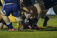 Match action during the Championship Cup match between London Scottish Football Club and Ealing Trailfinders at Richmond Athletic Ground, Richmond, United Kingdom on 23 November 2018. Photo by David Horn/PRiME Media Images