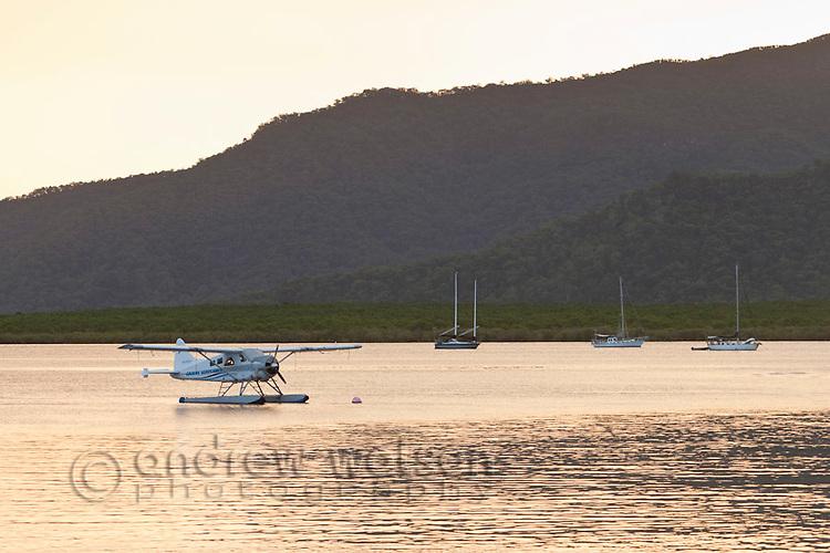 Seaplane moored in Trinity Inlet.  Cairns, Queensland, Australia