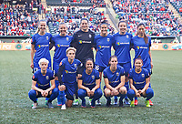 Portland, OR - Saturday May 06, 2017: Seattle Reign FC starting eleven during a regular season National Women's Soccer League (NWSL) match between the Portland Thorns FC and the Chicago Red Stars at Providence Park.