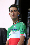 Italian National Champion Fabio Aru (ITA) Astana Pro Team on stage at the Team Presentation in Burgplatz Dusseldorf before the 104th edition of the Tour de France 2017, Dusseldorf, Germany. 29th June 2017.<br /> Picture: Eoin Clarke | Cyclefile<br /> <br /> <br /> All photos usage must carry mandatory copyright credit (&copy; Cyclefile | Eoin Clarke)