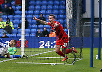 O's Jordan Maguire-Drew during Oldham Athletic vs Leyton Orient, Sky Bet EFL League 2 Football at Boundary Park on 7th December 2019