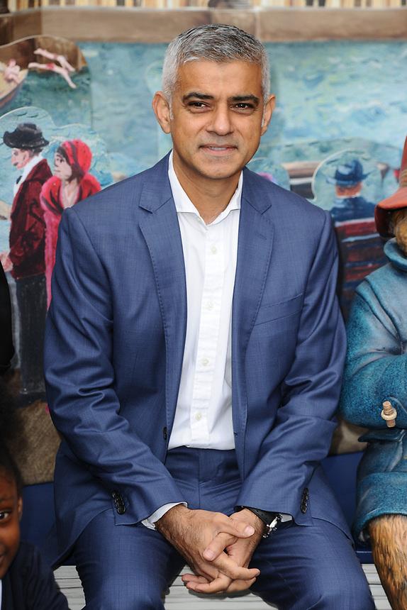 "Mayor Sadiq Khan<br /> at the ""Paddington's Pop-Up London"" launch, London<br /> <br /> <br /> ©Ash Knotek  D3339  19/10/2017"