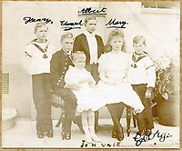 Historic signed photograph of the Royal children which includes the tragic 'lost prince'