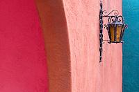 wall lamp in colorful La Placitas Village.