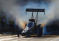 Mar 17, 2017; Gainesville , FL, USA; NHRA top fuel driver Chris Karamesines during qualifying for the Gatornationals at Gainesville Raceway. Mandatory Credit: Mark J. Rebilas-USA TODAY Sports