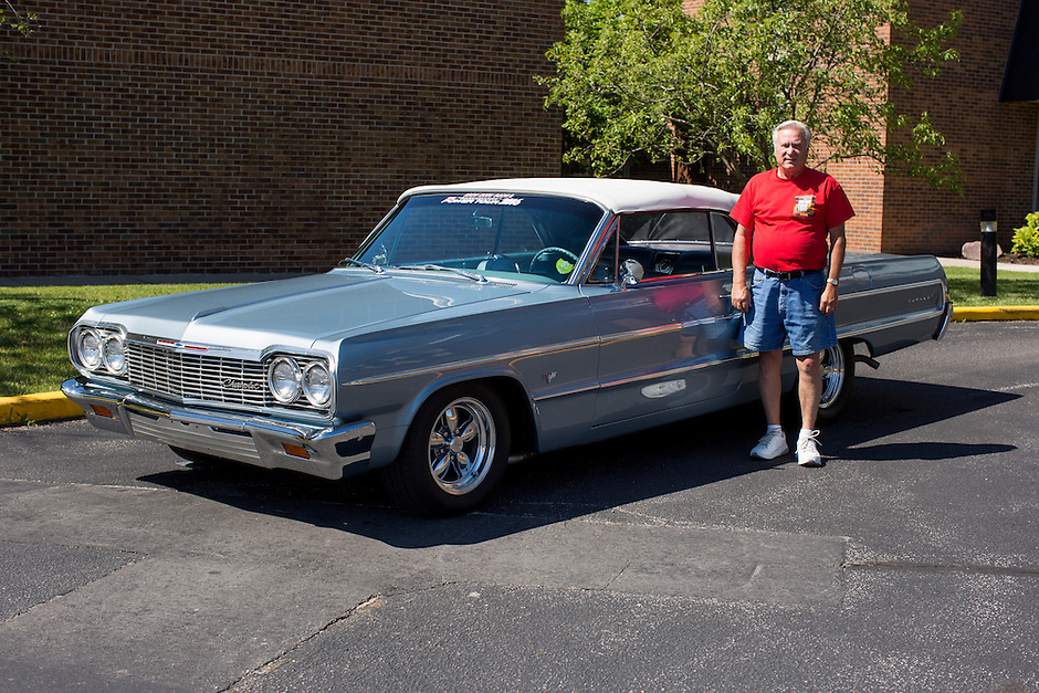 1964 Modified Junior (#106) – 1964 Chevrolet Impala Convertible registered to Jerry Machamer is pictured during 4th State Representative Chevy Show on Thursday, June 30, 2016, in Fort Wayne, Indiana. (Photo by James Brosher)