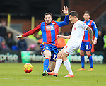 Crystal Palace's Jordan Mutch tussles with Liverpool's Philippe Coutinho<br /> <br /> - English Premier League - Crystal Palace vs Liverpool  - Selhurst Park - London - England - 6th March 2016 - Pic David Klein/Sportimage