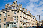 Georgian town houses, Rivers Street, Bath, England