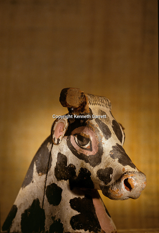 Head of Bovine Goddess; Amenhotep II; KV35; Valley of the Kings,Tutankhamun and the Golden Age of the Pharaohs, Page 147