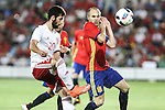 Georgia's Jigauri and Spain's Andres Iniesta during the up match between Spain and Georgia before the Uefa Euro 2016.  Jun 07,2016. (ALTERPHOTOS/Rodrigo Jimenez)