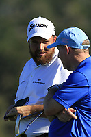 Shane Lowry (IRL) and playing partner Gerry McManus (IRL) on the 6th green at Pebble Beach course during Friday's Round 2 of the 2018 AT&amp;T Pebble Beach Pro-Am, held over 3 courses Pebble Beach, Spyglass Hill and Monterey, California, USA. 9th February 2018.<br /> Picture: Eoin Clarke | Golffile<br /> <br /> <br /> All photos usage must carry mandatory copyright credit (&copy; Golffile | Eoin Clarke)