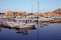 Hotels, marina and pleasure boats at Cabo San Lucas. Baja, Mexico.