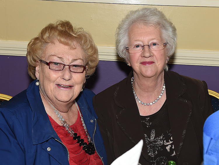 Kathleen Shevlin and Margaret Mulroy pictured at Naomh Mairtin Annual Reunion Dinner Dance in the Grove House Dunleer. Photo:Colin Bell/pressphotos.ie