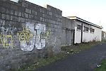 Rubbish and Graffitti at Laneway beside Boyne Rovers Pitch...(Photo credit should read Jenny Matthews www.newsfile.ie)....This Picture has been sent you under the conditions enclosed by:.Newsfile Ltd..The Studio,.Millmount Abbey,.Drogheda,.Co Meath..Ireland..Tel: +353(0)41-9871240.Fax: +353(0)41-9871260.GSM: +353(0)86-2500958.email: pictures@newsfile.ie.www.newsfile.ie.