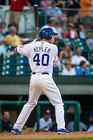 Max Kepler (40) of the Chattanooga Lookouts bats during a game between the Jackson Generals and Chattanooga Lookouts at AT&T Field on May 7, 2015 in Chattanooga, Tennessee. (Brace Hemmelgarn/Four Seam Images)