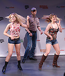 Cast from 'Somewhere with You'  performs in a special preview of the 2014 New York Musical Theatre Festival (NYMF) at Ford Foundation Studio Theatre in The Pershing Square Signature Center on July 2, 2014 in New York City.