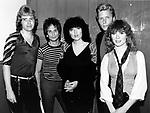 Heart 1983 Howard Leese,Danny Carmassi, Ann Wilson,Mark Andes, Nancy Wilson<br /> &copy; Chris Walter