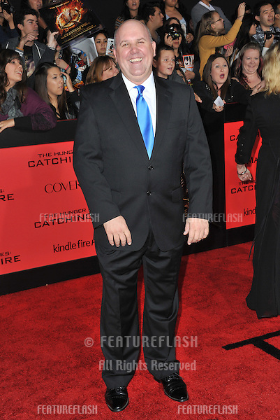 James DuMont at the US premiere of &quot;The Hunger Games: Catching Fire&quot; at the Nokia Theatre LA Live.<br /> November 18, 2013  Los Angeles, CA<br /> Picture: Paul Smith / Featureflash