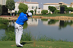 Rory McIlroy tees off on the par3 6th tee during Day 1 of the Dubai World Championship, Earth Course, Jumeirah Golf Estates, Dubai, 25th November 2010..(Picture Eoin Clarke/www.golffile.ie)