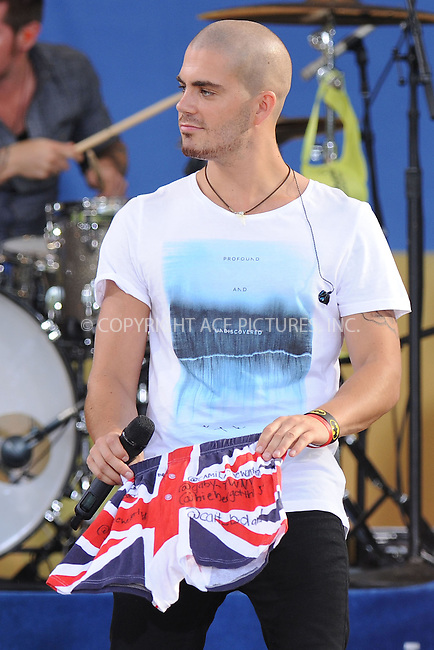 WWW.ACEPIXS.COM . . . . . .August 24, 2012...New York City.....Max George of The Wanted performs on ABC's 'Good Morning America' at Rumsey Playfield, Central Park on August 24, 2012 in New York City.....Please byline: KRISTIN CALLAHAN - ACEPIXS.COM.. . . . . . ..Ace Pictures, Inc: ..tel: (212) 243 8787 or (646) 769 0430..e-mail: info@acepixs.com..web: http://www.acepixs.com .