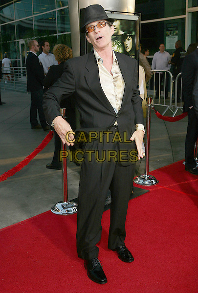 """DAVID TWOHY.""""A Perfect Getaway """" World  Premiere held  at the Arclight Cinemas Cinerama Dome, Hollywood, California, USA..August 5th, 2009.full length black suit white shirt hat tinted glasses hands mouth open.CAP/ADM/TC.©T. Conrad/AdMedia/Capital Pictures."""