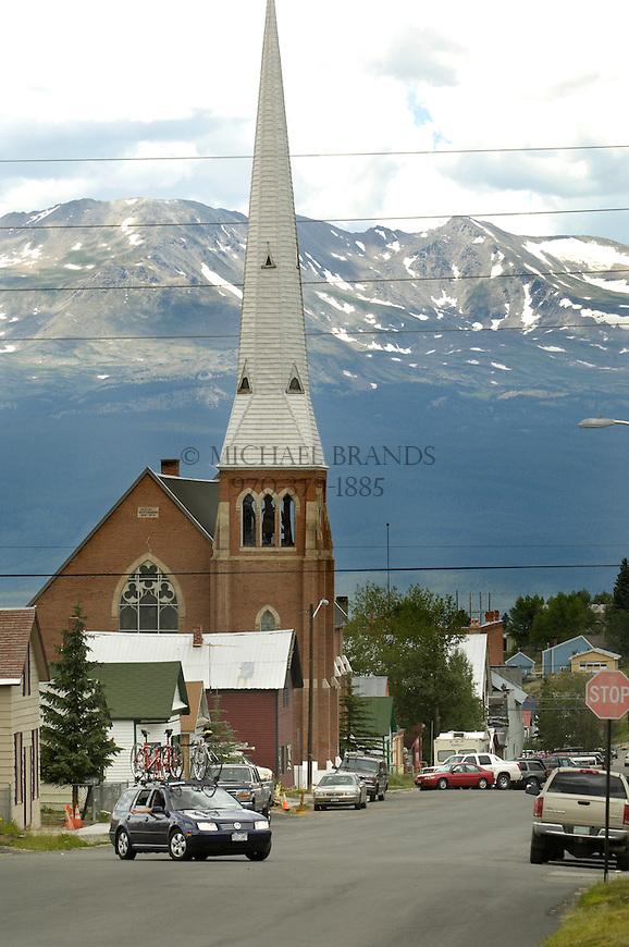 Downtown Leadville with the Sawatch mountain range for a backdrop. © Michael Brands. 970-379-1885.