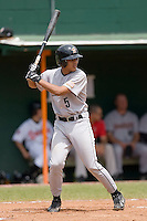 Rene Garcia (5) of the Greeneville Astros at bat at Bowen Field in Bluefield, WV, Sunday July 6, 2008. (Photo by Brian Westerholt / Four Seam Images)