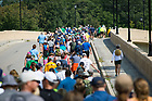 August 25, 2017; ND Trail day 12: Pilgrims enter South Bend. (Photo by Matt Cashore/University of Notre Dame)