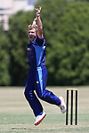 NELSON, NEW ZEALAND - JANUARY 12: Tomas Zorab appeals for a wicket WTTU v ACOB on January 12 2018 in Nelson, New Zealand. (Photo by: Evan Barnes Shuttersport Limited)