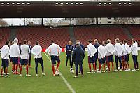 Zürich, Switzerland - Monday, March 30, 2015: The USMNT Train in preparation for their friendly match versus Switzerland at Stadion Letzigrund.