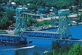 The Douglass Houghton bridge over Portage Canal between Houghton and Hancock in Michigan's Upper Peninsula.