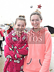 Victoria and Rebecca Reilly who took part in the annual Chernobyl swim at Clogherhead.  Photo:Colin Bell/pressphotos.ie