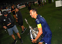 Auckland captain Angel Berlanga after the ISPS Handa Premiership football final between Auckland City FC and Team Wellington at QBE Stadium in Albany, New Zealand on Sunday, 1 April 2018. Photo: Dave Lintott / lintottphoto.co.nz