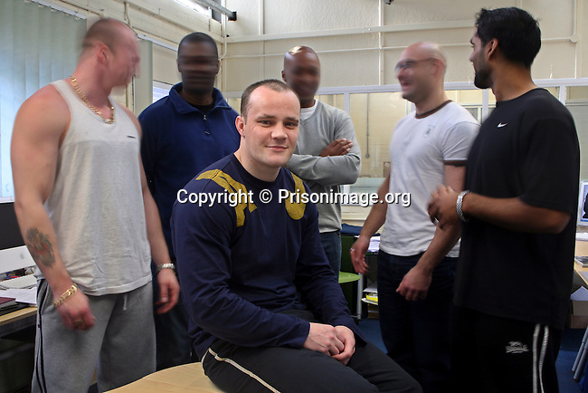 The designers of Barbed design, in the studio and inmates of HMP Coldingley. Surrey, United Kingdom. They receive the minimum wage; they pay tax, national insurance, contribute to their prison and can support their family outside. The project was piloted by the Howard League for Penal Reform but had to close after 2 years.