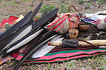 Sacred Condor feathers together with cultural artifacts, Argentina