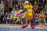 Mannheim, Germany, January 08: During the 1. Bundesliga men indoor hockey match between TSV Mannheim and Mannheimer HC on January 8, 2020 at Primus-Valor Arena in Mannheim, Germany. Final score 5-4. (Photo by Dirk Markgraf / www.265-images.com) *** Paul-Philipp Kaufmann #11 of TSV Mannheim, Lukas Stumpf #4 of Mannheimer HC