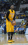 February 7, 2015 - Colorado Springs, Colorado, U.S. -  Wyoming forward, Derek Cooke #11, at the foul line during an NCAA basketball game between the University of Wyoming Cowboys and the Air Force Academy Falcons at Clune Arena, U.S. Air Force Academy, Colorado Springs, Colorado.  Air Force soars to a 73-50 win over Wyoming.