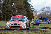 10th February 2019, Galway, Ireland; Galway International Rally; Garry Jennings and Rory Kennedy (Subaru Impreza WRC S12B) retired later in the event