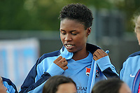 Piscataway, NJ - Wednesday Sept. 07, 2016: Maya Hayes prior to a regular season National Women's Soccer League (NWSL) match between Sky Blue FC and the Orlando Pride FC at Yurcak Field.