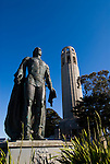 California: San Francisco. Statue of Columbus. Coit Tower, Telegraph Hill. Photo copyright Lee Foster. Photo #: san-francisco-coit-tower-19-casanf79245