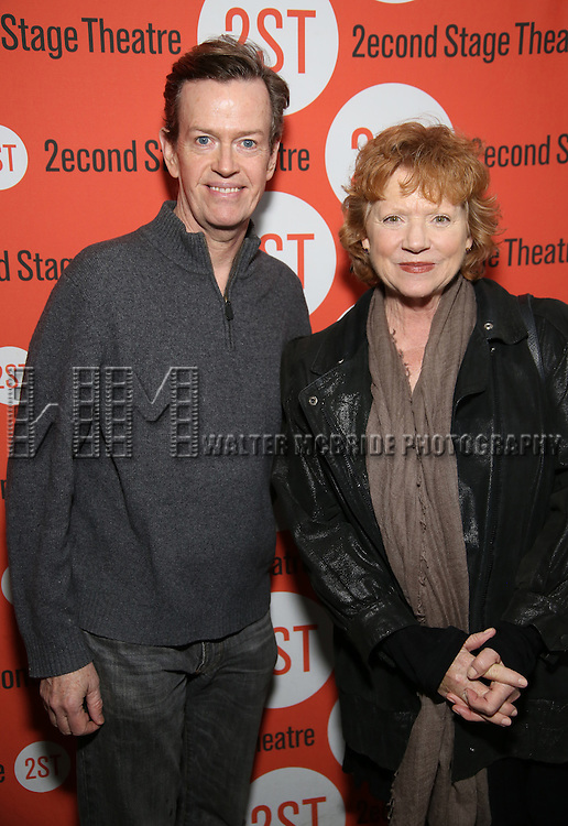 Dylan Baker and Becky Ann Baker attend the Off-Broadway Opening Night performance of 'Man From Nebraska' at the Second StageTheatre on February 15, 2017 in New York City.