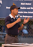 Donny Nelson speaks before the Bonanza Casino Nevada Twilight Classic season opener at Mira Loma Park in Reno on Friday night, August 30, 2019.