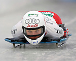 15 December 2006: Tania Morel, of Switzerland, starts her run at the FIBT Women's World Cup Skeleton Competition at the Olympic Sports Complex on Mount Van Hoevenburg  in Lake Placid, New York, USA.&amp;#xA;&amp;#xA;Mandatory Photo credit: Ed Wolfstein Photo<br />