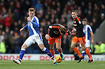 Jon Nolan of Chesterfield tussles with Billy Sharp of Sheffield Utd during the English League One match at the Proact Stadium, Chesterfield. Picture date: November 13th, 2016. Pic Simon Bellis/Sportimage