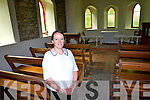 Leta Sweeney in the Little Belfry Chapel in Glenbeigh which the Sweeney family have now opened for weddings.