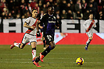 Rayo Vallecano's Oscar Guido Trejo and CD Leganes's Kenneth Josiah Omeruo during La Liga match between Rayo Vallecano and CD Leganes at Vallecas Stadium in Madrid, Spain. February 04, 2019. (ALTERPHOTOS/A. Perez Meca)